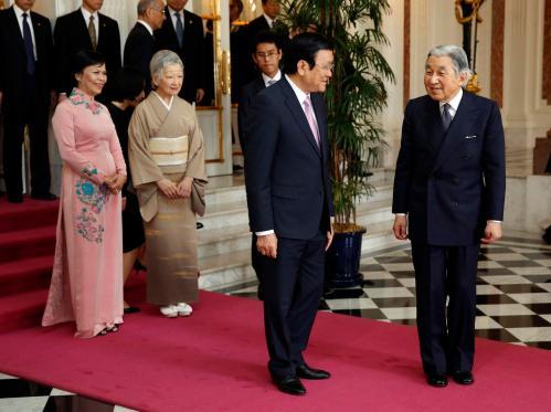 Truong Tan Sang, Mai Thi Hanh, Akihito, Michiko